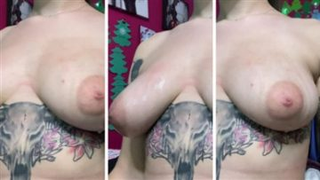 Quinn Gray Onlyfans Oiled Up Boobs Video