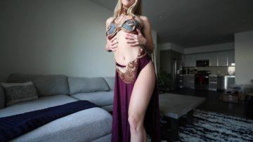 Caroline Zalog Onlyfans Halloween Dress Try On Video (6)
