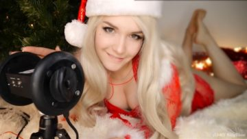 KittyKlaw ASMR Santa Girl Licking, Mouth Sounds, Triggers Patreon Video