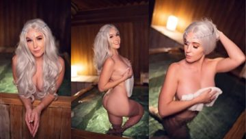 Meg Turney Onlyfans Nude Winter Goddess Onsen Leaked