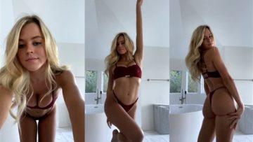 Iza Leslie Nude Red Bikini Teasing Leaked Video