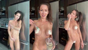 Jennifer Tavernier Nude Cream Covered Video Leaked
