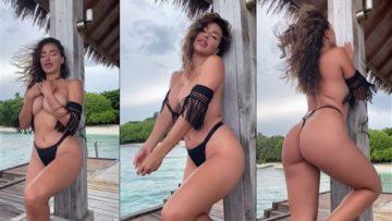 Ana Cheri Nude Teasing in Bikini On Beach Video Leaked