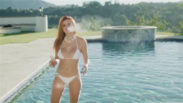 Bella Thorne Nude Pool White Bikini Teasing Video Leaked