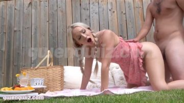 Gwen Gwiz Nude Summer Garden Picnic Sextape Fucking Video Leaked