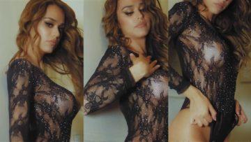 Yanet Garcia Nude See Through Black Lingerie Video Leaked