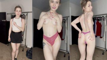 Madi Anger Nude Bikini and Panties Try On Video Leaked