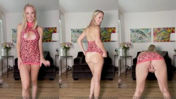 Vicky Stark Nude Leopard Costume Try On and Teasing Video Leaked