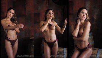 Brittney Palmer Nude Lingerie Teasing Video Leaked