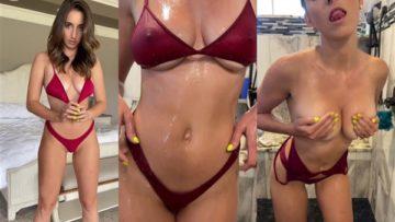 Christina Khalil Nude Shower Bikini Striptease Video Leaked