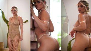 Paige VanZant Nude Teasing in Mesh Dress Video Leaked