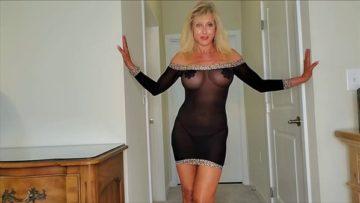 Reba Fitness Nude See Thorugh Black Sheer Dress Video Leaked