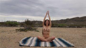 Abby Opel Nude Yoga in Desert Video Leaked