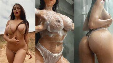Louisa Khovanski Nude Soapy Shower Video Leaked