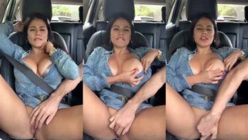 Steffy Moreno Nude Masturbating in Car Porn Video Leaked
